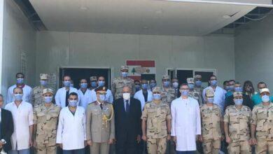 Photo of سامح شكري يتفقد المستشفى الميداني المصري في بيروت خلال زيارته إلى لبنان