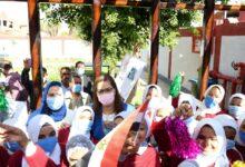 Photo of السعيد تفتتح مدرسة ومركز شباب بقرية عرب بخواج خلال زيارتها لسوهاج