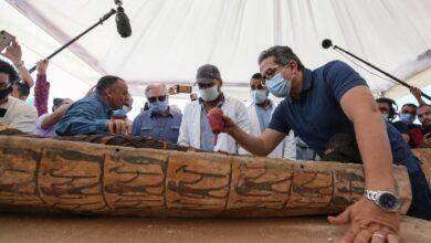 Photo of الكشف عن 59 تابوتا خشبيا مغلقا بحالتهم الأولي داخل آبار للدفن بمنطقة آثار سقارة