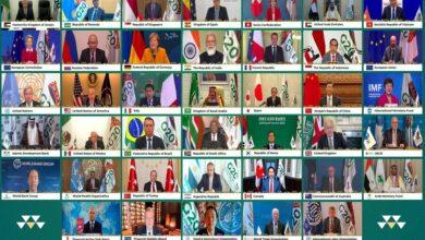Photo of قادة مجموعة العشرين يتعهدون بوصول لقاحات كورونا بشكل عادل للجميع وبتكلفة ميسورة