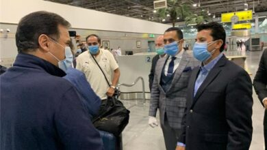 Photo of وزير الرياضة يستقبل بعثة منتخب مصر بمطار القاهرة