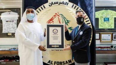 "Photo of الإمارات تدخل موسوعة ""غينيس"" بأكبر ميدالية رياضية في العالم"