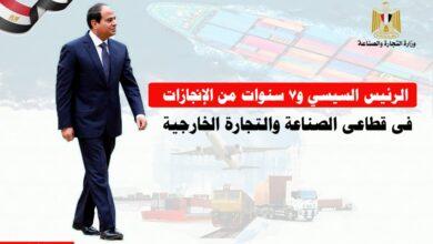 Photo of الرئيس السيسى و7 سنوات من الانجازات فى قطاعي الصناعة والتجارة الخارجية